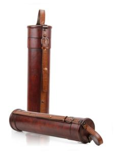 Exklusive Holz-Lederverpackung 1er